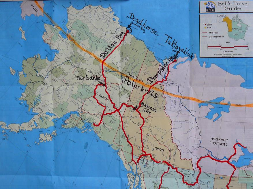 Polarkreis Alaska Karte.12 Fahrt Zum Eismeer Panamericana Barbara Volker